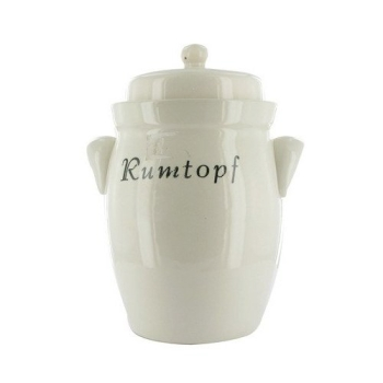 Rum pot (Rumtopf) with lid